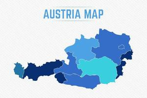 Austria Detailed Map With States vector