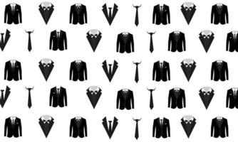 Abstract Business Pattern With Black Suits vector