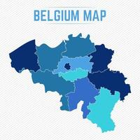Belgium Detailed Map With States vector