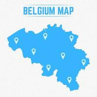 Belgium Simple Map With Map Icons vector