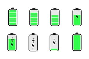 Charge Phone Battery Icons Set Illustration vector