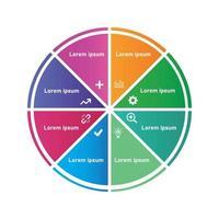 Colorful Circle Divided Into 8 Parts vector