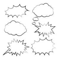 Blank Empty Comic Speech Bubbles vector