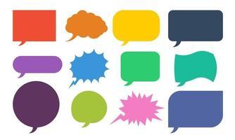Colorful Speech Bubbles Set vector