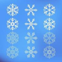 Cute Snowflake Icons Illustration vector
