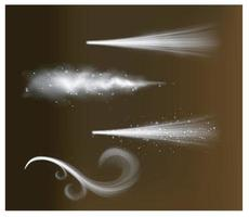 spray de polvo, humo blanco, polvo vector