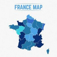 France Detailed Map With States vector