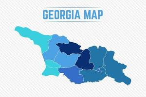 Georgia Detailed Map With States vector