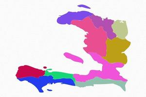 Haiti Detailed Map With States vector