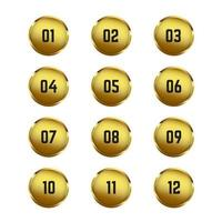 Gold Circle Bullet Points vector