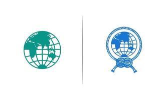 ilustrador del vector del icono del logotipo de la tierra del globo