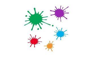 Colorful paint splatters.Paint splashes set.Vector illustration. vector