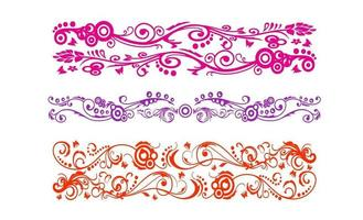 Vintage Batik ornament line art design vector