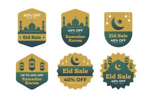 Eid Marketing Label with a modern minimalist design vector