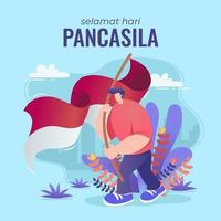 Celebrate Pancasila Day by raising Merah Putih
