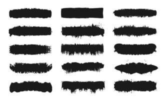 Paint Brush Stroke Set vector