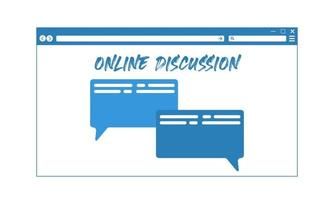 Online Web Discussion Concept vector