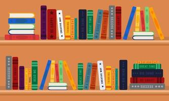 Row of Colorful Books Flat Design vector