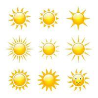 Sun Vector Icons Set