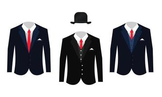 Set of Different Business Suits Clothing vector