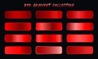 Red Gradients Swatches Set vector