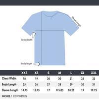 plantilla de tabla de tamaño de camisa vector