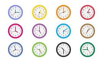 Variety of Clock Times Icons vector