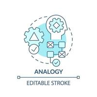 Analogy blue concept icon vector