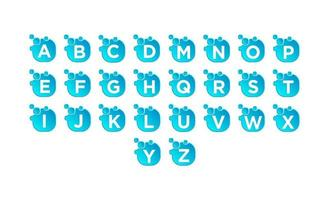 vector de diseño de conjunto de logotipo de burbuja az inicial