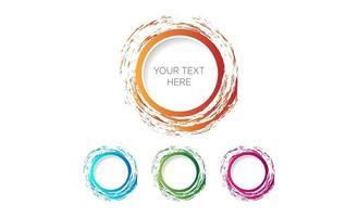 vector de diseño de logotipo de color de agua de pincel de círculo