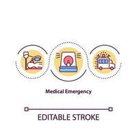 icono de concepto de emergencia médica vector