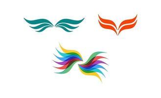 Wing logo icon design template vector