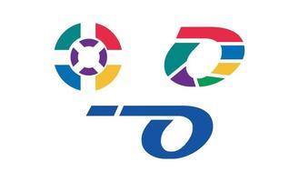 vector de diseño colorido logo inicial o