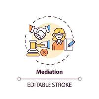 Mediation concept icon vector
