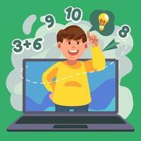 la educación de los niños estudian vector