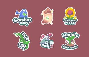 Eco Garden Sticker vector