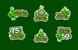 Lebaran Big Sale Sticker vector