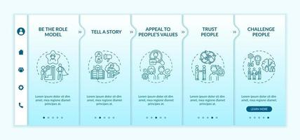 Inspiration speeches for audience onboarding vector template