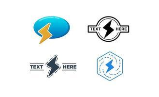 Flash logo set  design template vector