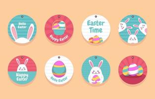 Cute Easter Gift Tag Collection vector