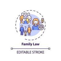 Family law concept icon vector