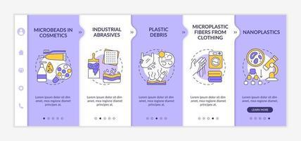 plantilla de vector de incorporación de fuentes de microplásticos