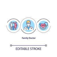 icono de concepto de médico de familia vector