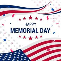 United States Memorial Day Background Design vector