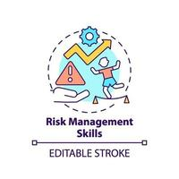 Risk management skills concept icon vector