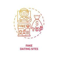 Fake dating website concept icon. vector