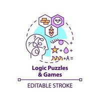Logic puzzles and games concept icon vector