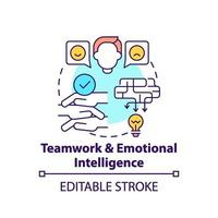 Teamwork and emotional intelligence concept icon vector