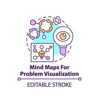 Mind maps for problem visualization concept icon vector