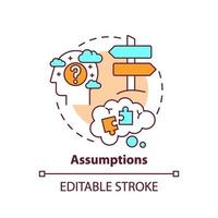 Assumptions concept icon vector